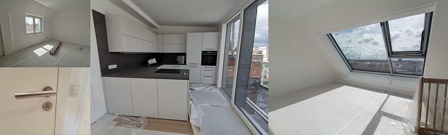 Beispiele Küche-Türe  beides nicht in belagsfertig dabei - fertig gemalt schon